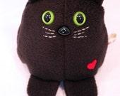 Black Cat - Whee One - Stuffed Animal -  Stuffed Toy - Plushie