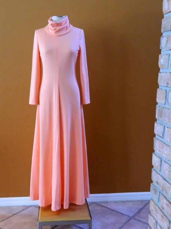Vintage Peach Maxi Dress
