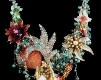Time to CREATE.  Perhaps an UNDERWATER OaSiS Necklace?  Downpayment for a custom Kay Adams creation.