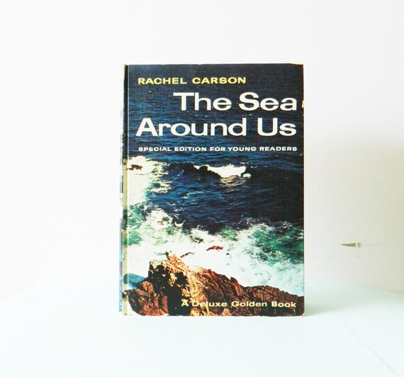 Vintage Golden Book-The Sea Around Us / Illustrated Childrens Marine Life Book / Vintage Ocean Book / 1950s Science Book