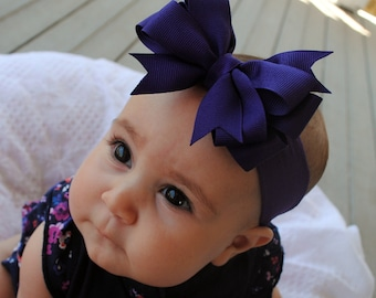 Simple Sweet You Pick Color Bow Headband or Clip