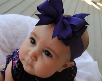 Simple Sweet Purple Bow Headband