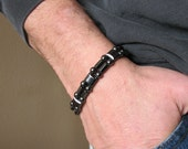 "Magnetic Therapy Bracelet - Black ""Hematite"" - Men's or Women's"