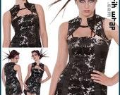 Custom made Futuristic Geisha, avantgarde, cyber dress.