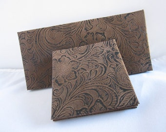 Magic Wallet, Western, Country, Mini Magic Wallet,  Western Tooled Look Magic Wallet, Flat Magic Wallet
