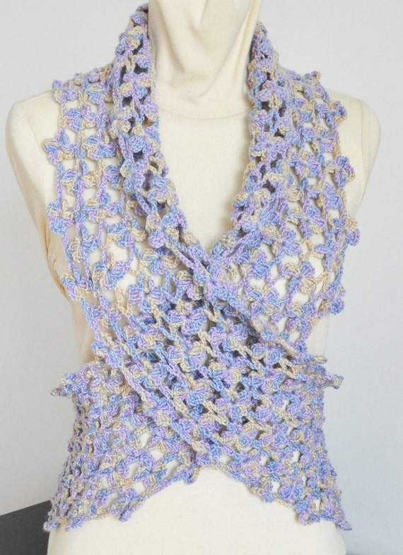 Crochet Patterns Multicolor Yarn : SALE Crochet Multicolor Acrylic Yarn Scarf