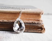 CRYSTAL Necklace Bride Wedding Silver Vintage Jewel Sparkle