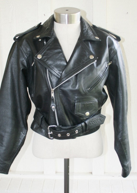 Get Your Motor Run'n - Heavy Leather Motorcycle Jacket - Rocker - Punk Rock -  by Protech Leather Apparel