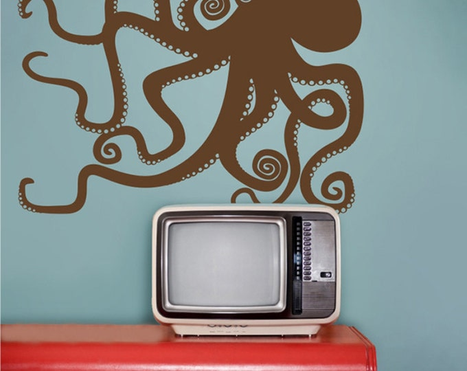 vinyl wall decal octopus, octopus sticker, FREE SHIPPING