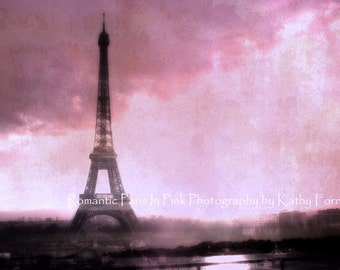 Paris Photography, Eiffel Tower Baby Girl Nursery Decor, Paris Pink Eiffel Tower Prints, Paris Pink Wall Art, Eiffel Tower Pink Wall Decor