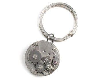 Steampunk Vintage Watch Movement Key Chain