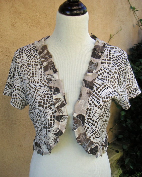 SALE-Women's Upcycled Large Cotton Tee Topper 15