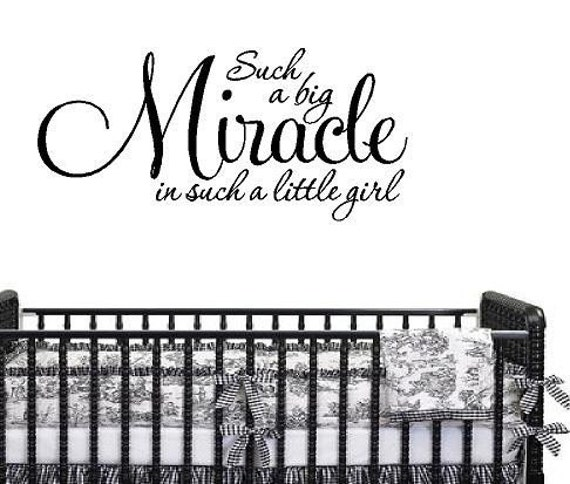 Miracle Baby Quotes: Baby Nursery Wall Quotes Such A Big Miracle In Such A Little