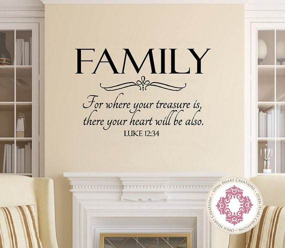 Decal – Vinyl Wall Sticker  Friends And Family GATHER HERE Quote Home Decor Sticker Vinyl Wall Decal 22 Colors