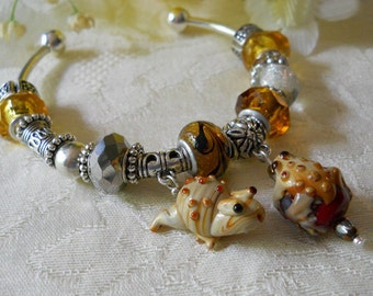 Wind In The Willows European Style Beaded Bracelet Large Beads