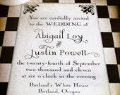 10/6 - Vintage Wedding Invitation Sample