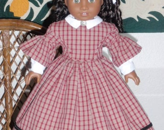 Mid 1800s Civil War Era Day Dress American Girl Cecile Marie Grace Addy 18 inch doll