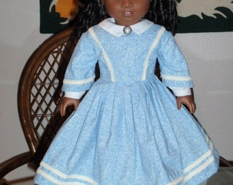 1800s Civil War Era Day Dress For American Girl Cecile Marie Grace Addy 18 inch doll