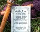 Nostepinne Yarn Ball Winder Vintage Wood Center Pull