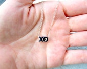 XO  Necklace BFF Necklace Sterling Silver Minimalist Necklace Hugs and Kisses