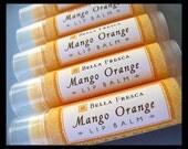 Mango Orange Lip Balm -- Tropical Fruit Lip Balm, Shea Butter Lip Balm for chapped lips, lip care, lip butter, Bath and Beauty Bella Fresca