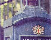 "Doctor Who, Sci Fi Art ""Time and Space"" Blue London Telephone Box, TARDIS, British Travel Photography, Geek Nerd Home Decor, Kids Room Decor"