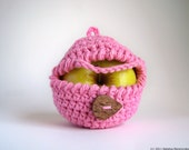 Apple Cozy, Crochet Apple, Gifts Under 20, Gifts for Mom, Gifts for Her, Gifts for Sister, Vegan Gift, Cotton Gifts