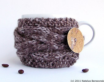 Cup Cozy, Chunky Knit, Coffee Cozy, Coffee Sleeve, Tea Cozy, Coffee Cup Sleeve, Coffee Cup Cozy, Coffee Mug Cozy, Mug Sweater, Cup Cozies