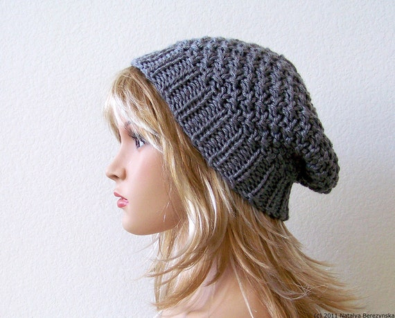 womens slouchy beanie hat knit slouchy hat knit hat womens
