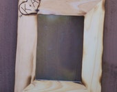 Personalized Wedding Frame Engraved Rustic Wood (item E10255)