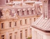 Paris Photography - Architectural Fine Art Travel Photo, Urban Home Decor, Paris Rooftops, Large Wall Art