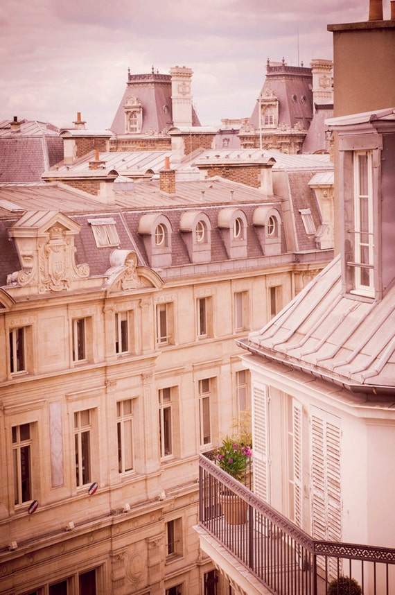 Paris Photography - Architectural Fine Art Travel Photo, Urban Home Decor, Paris Rooftops, Large Wall Art