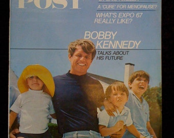 Vintage Book/ 1960s Saturday Evening Post Magazine Historical Bobby Kennedy's Talks about His Future- August 26 1967