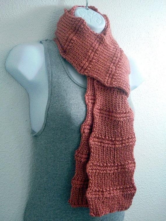 Knitting Tutorial For Beginners Pdf : Scarf pattern knitting beginner tutorial easy knit