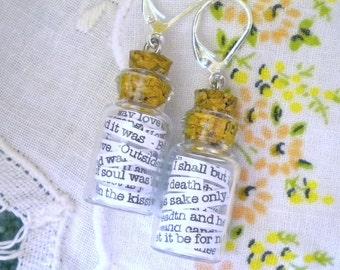 Earrings Robert Browning & Elizabeth Barrett Browning in a Jar