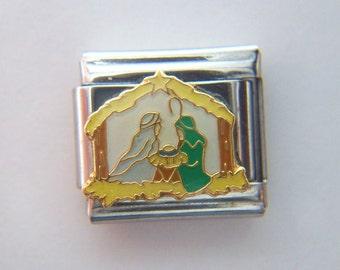 Authentic Casa D Oro - Christmas Nativity Charm - Italian Charm 9mm Link