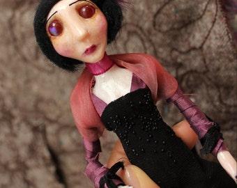 Elise - Ooak gothic art doll