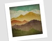 MOUNTAIN VIEW Smoky Mountains Green Mountains graphic art Print SIGNED