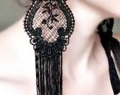 20% OFF Victorian Lace Earrings - Vintage Gypsy Fringe