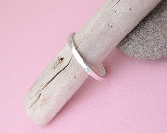 Stacking Ring Silver Hammered Stack Ring - Sweetheart