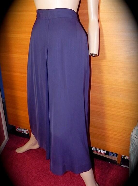 Splendid Gabardine 40s Purple Swing Skirt Rare Size L XL 34 Tall -on sale-