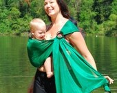 Baby Carrier Ring Sling Water Mesh Emerald Green for Pools, Beach Vacation, Shower - MADE TO ORDER any length