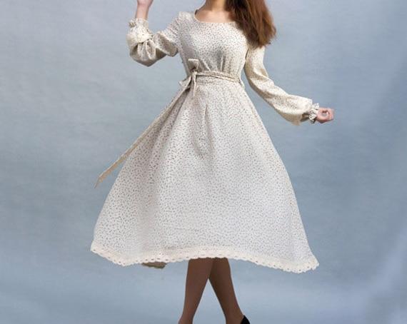 linen dress, flower printed dress, maxi dress, long sleeves dress, spring dress, casual dress, party dress, prom dress, womens dresses (24)