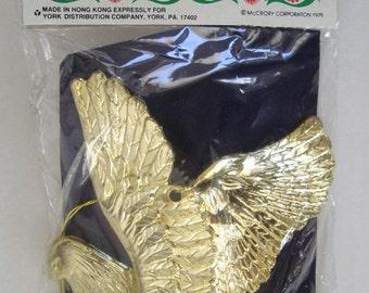 Gold Peace Dove Ornament,  Festive Tree Trimming Home Decor