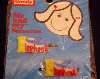 Goody Elephant Girls Barrettes,  Red and Yellow, Hair Care, Ponytails, Braids