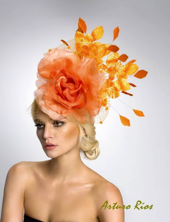 Couture fascinator--Cocktail Hat- Headpiece, Derby Hat