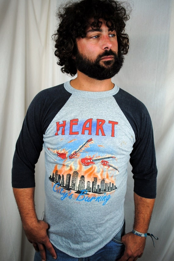 Vintage Heart Private Audition Tour 1982 Rock Tee Shirt
