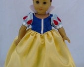 American Girl Sized Snow White Costume with Headband