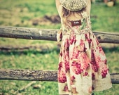 Raspberry Genoise girl's hydrangea knot dress