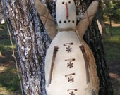 Primitive Snowman Angel